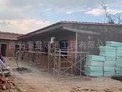 陕西黄陵县新村自建房电地暖窑洞采暖安装